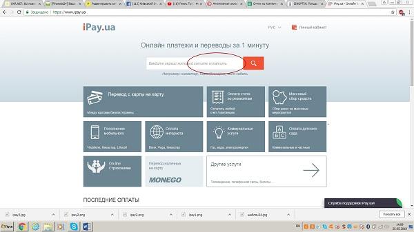 IPay строка браузера