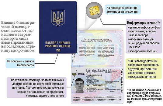 как выгляжит биометрический паспорт